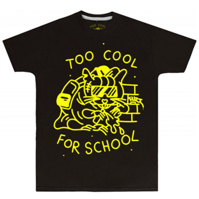 IGNORANT PEOPLE T-Shirt TOO COOL FOR SCHOOL black